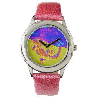 bunte Eidechsenuhr Armbanduhr