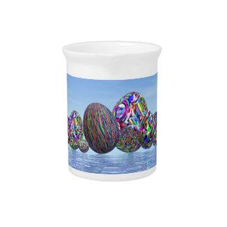 Bunte Eier für Ostern - 3D übertragen Getränke Pitcher