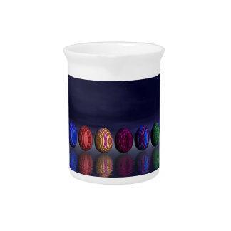 Bunte Eier für Ostern - 3D übertragen Krug