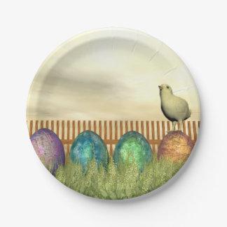 Bunte Eier für Ostern - 3D übertragen Pappteller 17,8 Cm