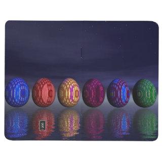 Bunte Eier für Ostern - 3D übertragen Taschennotizbuch