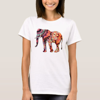 Bunte Elefant-Kunst-Illustration T-Shirt