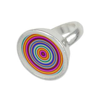 Bunte Energie chakra Regenbogenkunst Foto Ringe