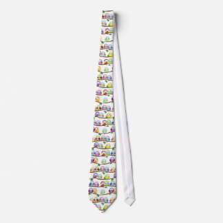 Bunte Eulen auf einer Niederlassung Individuelle Krawatten