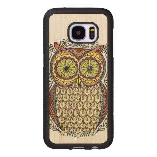 Bunte Eulen-Illustration Samsung Galaxy S7 Holzhülle