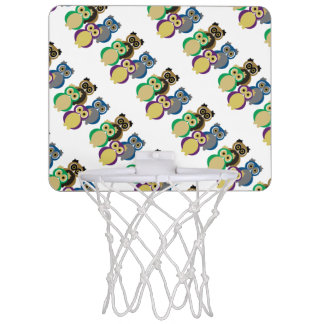 Bunte Eulen Mini Basketball Ring