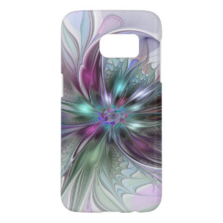 Bunte Fantasie-abstrakte moderne Fraktal-Blume
