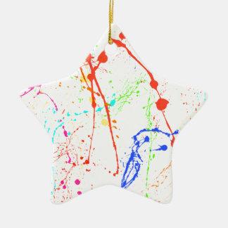 Bunte Farbe Splats Keramik Stern-Ornament