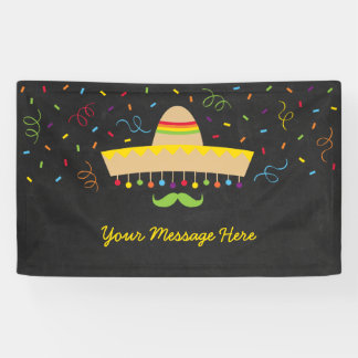 Bunte Fiesta-Babyparty Banner