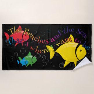 Bunte Fisch-Badetuch-Entwürfe Strandtuch