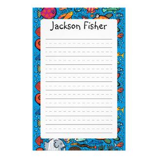 Bunte Fisch-Freunde Briefpapier
