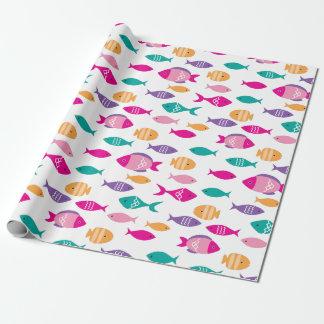Bunte Fische unter dem Meer Geschenkpapier