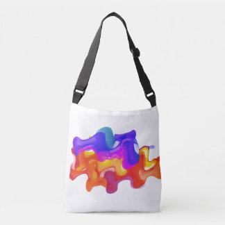 Bunte flüssige Explosions-Taschen-Tasche Tragetaschen Mit Langen Trägern