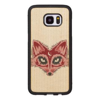 Bunte Fox-Illustration Samsung Galaxy S7 Edge Holzhülle