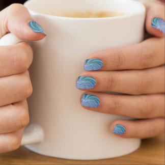 Bunte Fraktal-Blumen Minx Nagelkunst