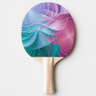 Bunte Fraktal-Blumen Tischtennis Schläger