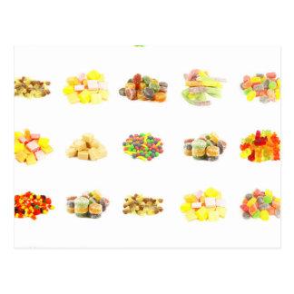 Bunte Frucht gewürzter Süßigkeits-abgeschiedener Postkarte