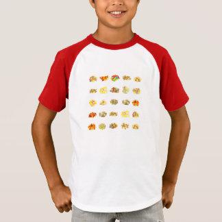 Bunte Frucht gewürzter Süßigkeits-abgeschiedener T-Shirt