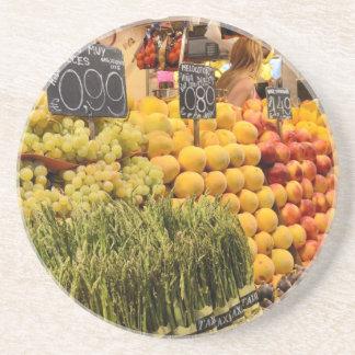 Bunte Früchte Getränkeuntersetzer