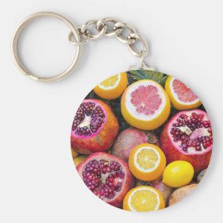 Bunte Früchte Schlüsselanhänger