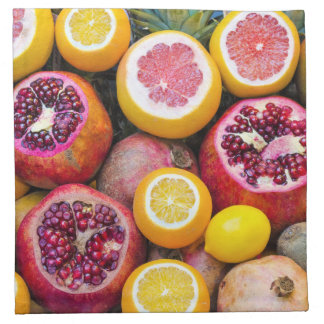 Bunte Früchte Stoffserviette