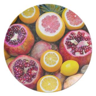 Bunte Früchte Teller