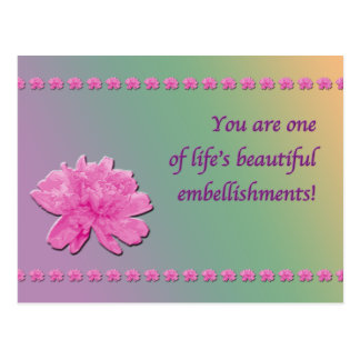 Bunte Gartennelken-Verschönerungspostkarte Postkarte