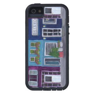 Bunte Gebäude in einer Reihenacrylmalerei iPhone 5 Case