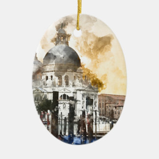 Bunte Gebäude in Venedig Italien Keramik Ornament
