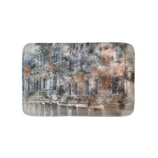 Bunte Gebäude Venedigs Italien Badematte