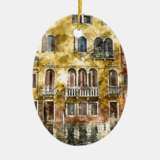 Bunte Gebäude Venedigs Italien Keramik Ornament