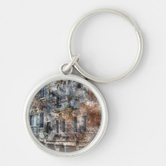Bunte Gebäude Venedigs Italien Schlüsselanhänger