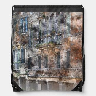 Bunte Gebäude Venedigs Italien Sportbeutel
