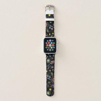 Bunte Gekritzel der Kultur-Ikonen Japans Kawaii Apple Watch Armband