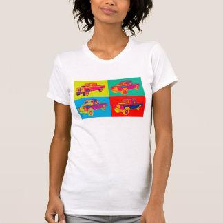 Bunte Geländewagen-Lieferwagen-LKW-Pop-Kunst 1971 T-Shirt