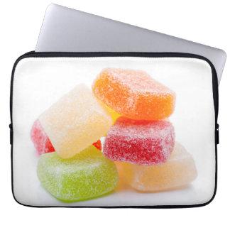 Bunte Geleequadrat-Süßigkeiten Laptopschutzhülle