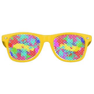 Bunte gelegentliche Trippy Muster-Party-Schatten Sonnenbrille