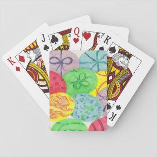 Bunte gemalte Osterei-Spielkarten Spielkarten