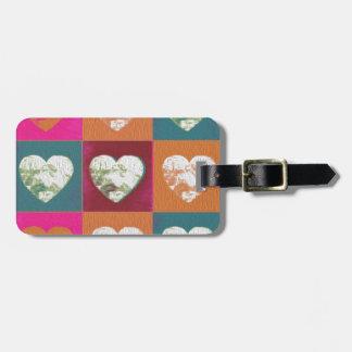 Bunte gemalte Valentinsgrußherzen Gepäckanhänger