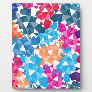 Bunte geometrische Formen 3D Fotoplatte