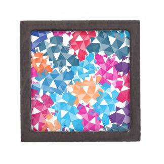 Bunte geometrische Formen 3D Schachtel