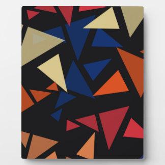 Bunte geometrische Formen Fotoplatte