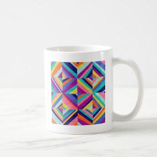 Bunte geometrische Kunst Kaffeetasse