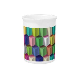Bunte geometrische Zahlen mit Sommerfarben Getränke Pitcher