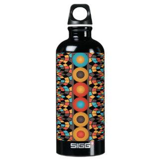 Bunte geometrische Zusammensetzung Wasserflasche