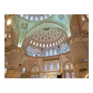 Bunte gewölbte Innendecke der blauen Moschee Postkarten