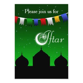 Bunte Girlande und Moschee Iftar Party Einladung