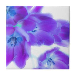 Bunte, girly, romantische, lila Tulpen Fliese