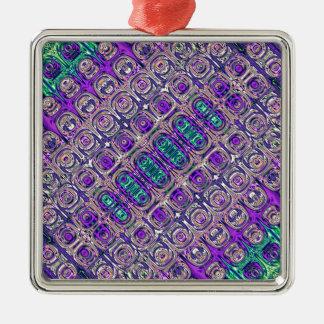Bunte Glasperlen abstrakt Silbernes Ornament