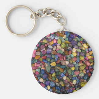 Bunte glatte glänzende Felsen und Kiesel Schlüsselanhänger
